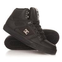 Кеды кроссовки высокие DC Spartan High Wc Black 3