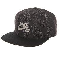 Бейсболка с прямым козырьком Nike SB Swarm Black