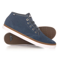Кеды кроссовки высокие Quiksilver Shorebrksuedmid Shoe Blue/Blue/White