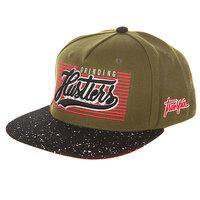 Бейсболка с прямым козырьком TrueSpin Splatter Hustlers Dark Green