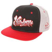 Бейсболка с прямым козырьком TrueSpin Wisdom Strapback Black/Red