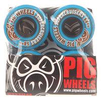Колеса для скейтборда для скейтборда Pig Supercruiser Ii Blue 85A 58 mm