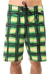 Шорты пляжные Volcom V4s Wavey Plaid Scrubs Green Europe