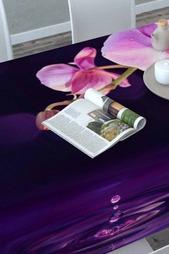 Скатерть 3D Орхидея над водой Сирень