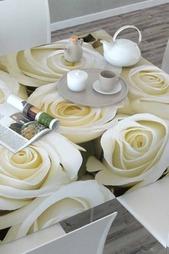 Скатерть 3D Душистые розы Сирень