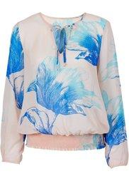 Блузка (черный/серебристый с рисунком) Bonprix