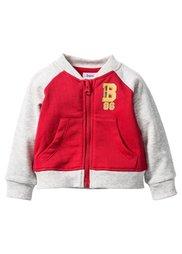 Для малышей: трикотажная куртка из биохлопка (красный/натуральный меланж) Bonprix
