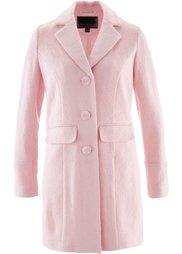 Пальто ПРЕМИУМ с большой долей шерсти (светло-серый меланж) Bonprix