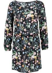 Обязательный элемент гардероба: платье (темно-оливковый с рисунком) Bonprix