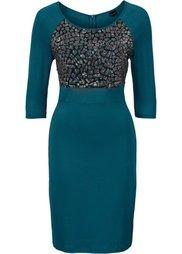 Платье с пайетками (черный) Bonprix