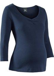 Мода для беременных: футболка с рукавом 3/4 (светло-серый меланж) Bonprix