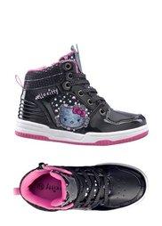 Кроссовки (черный/ярко-розовый/серебристы) Bonprix
