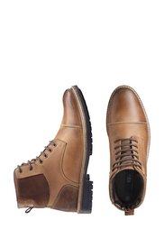 Кожаные ботинки на шнурках (коричневый) Bonprix
