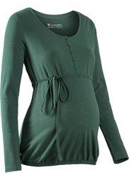 Мода для беременных: футболка с функцией кормления (черный) Bonprix