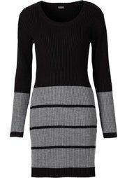 Трикотажное платье (темно-синий/цвет белой шерсти) Bonprix