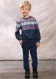 Непринужденные вельветовые брюки, Размеры 80-134 (темно-синий) Bonprix