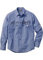 Рубашка Regular Fit  в традиционном стиле (кленово-красный/белый с узором) Bonprix