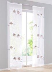 Японская штора Диего (1 шт.), петли (белый/серый) Bonprix