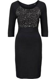 Платье с пайетками (серо-синий) Bonprix