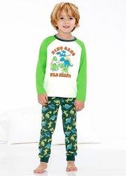 Пижама (2 изд.) (кремовый/ярко-зеленый) Bonprix
