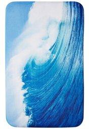 Коврик для ванной Волна из пены-мемори (синий) Bonprix