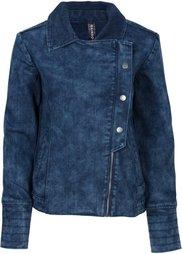Джинсовая куртка в байкерском стиле (черный «потертый») Bonprix