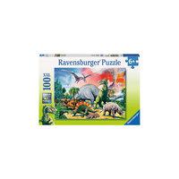 Пазл «Среди динозавров» XXL 100 деталей, Ravensburger