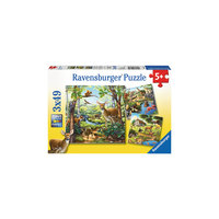 Пазл «Лес, зоопарк, домашние животные» 3х49 деталей, Ravensburger