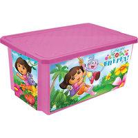 """Ящик для хранения игрушек """"X-BOX"""" """"Даша путешественница"""" 17л, Little Angel, розовый"""