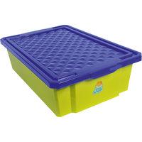 Ящик для хранения игрушек средний 30л на колесах, Little Angel, фисташковый