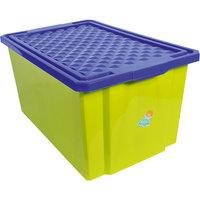 Ящик для хранения игрушек большой 57л на колесах, Little Angel, фисташковый