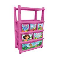 """Комод для детской комнаты """"Даша путешественница"""" 610мм комбинированный, Little Angel, розовый"""