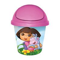 """Мусорная корзина круглая 7л. """"Даша путешественница"""", Little Angel, розовый"""
