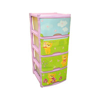 Комод для детской комнаты Bears Tutti 4 ящика, Little Angel, лавандовый
