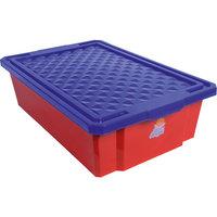Ящик для хранения игрушек средний 30л на колесах, Little Angel, красный лего