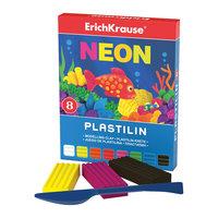 Пластилин Neon (8 цветов, 144г + стек), Artberry Erich Krause
