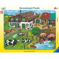 Пазл «Животные на ферме», 33 детали, Ravensburger
