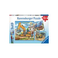 """Пазл """"Большие строительные машины"""", 3х49 деталей, Ravensburger"""