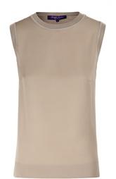 Кашемировый топ без рукавов с круглым вырезом Ralph Lauren
