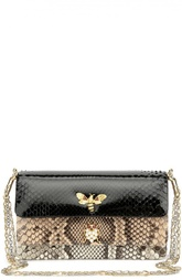 Клатч из комбинированной кожи питона на цепочке Dolce & Gabbana