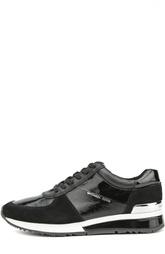 Кожаные кроссовки Allie с замшевыми вставками Michael Michael Kors