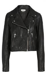 Укороченная кожаная куртка с косой молнией Isabel Marant Etoile