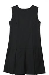 Шерстяное платье со складками Dal Lago