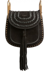 Замшевая сумка Hudson mini с кожаным ремешком Chloé
