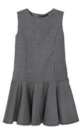 Шерстяное платье с оборками Dal Lago