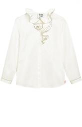 Блуза с декором из эластичного хлопка Aletta
