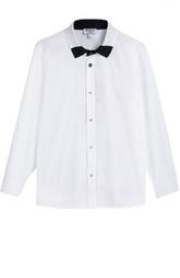 Хлопковая рубашка с контрастным воротником Aletta