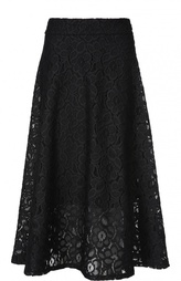 Кружевная юбка-миди А-силуэта DKNY
