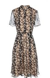 Приталенное платье-рубашка с воротником-стойкой HUGO BOSS Black Label
