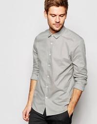 Серая строгая рубашка из фактурной меланжевой ткани ASOS - Серый